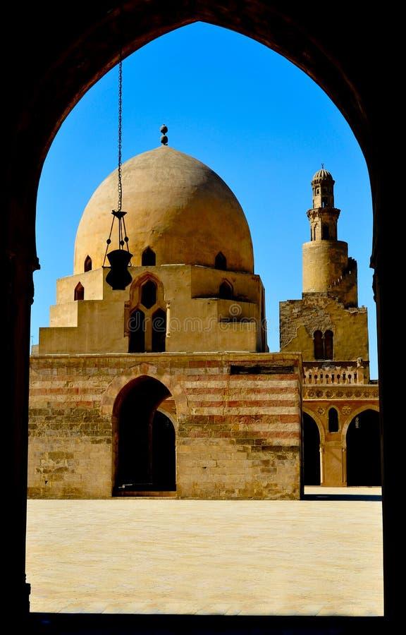 tulum de mosquée d'ibn du Caire photos libres de droits