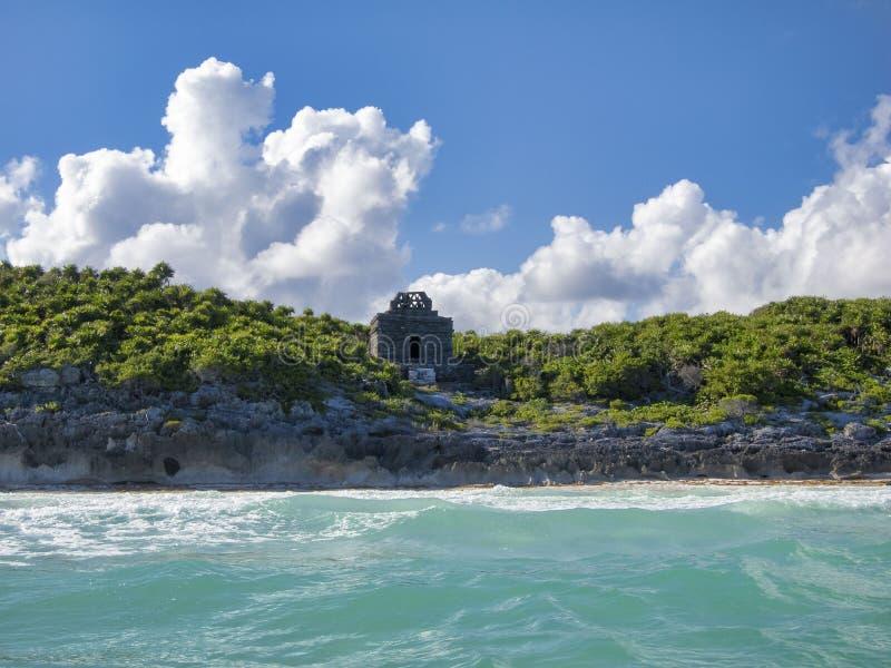 Των Μάγια καταστροφές Tulum - του Μεξικού στοκ εικόνα με δικαίωμα ελεύθερης χρήσης