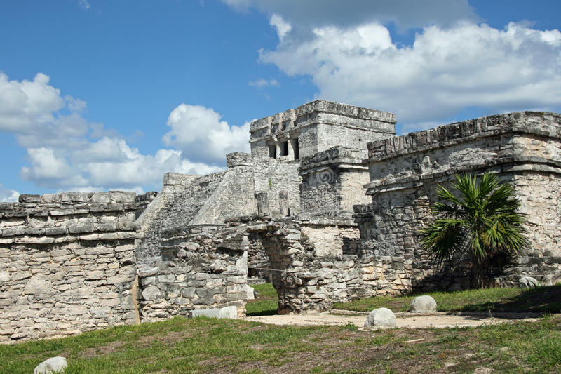 Tulum-El Castillo Royalty Free Stock Photos