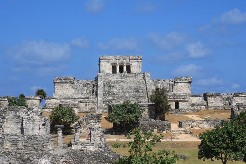 Tulum - historische Mayaruinen in Mexiko lizenzfreies stockbild