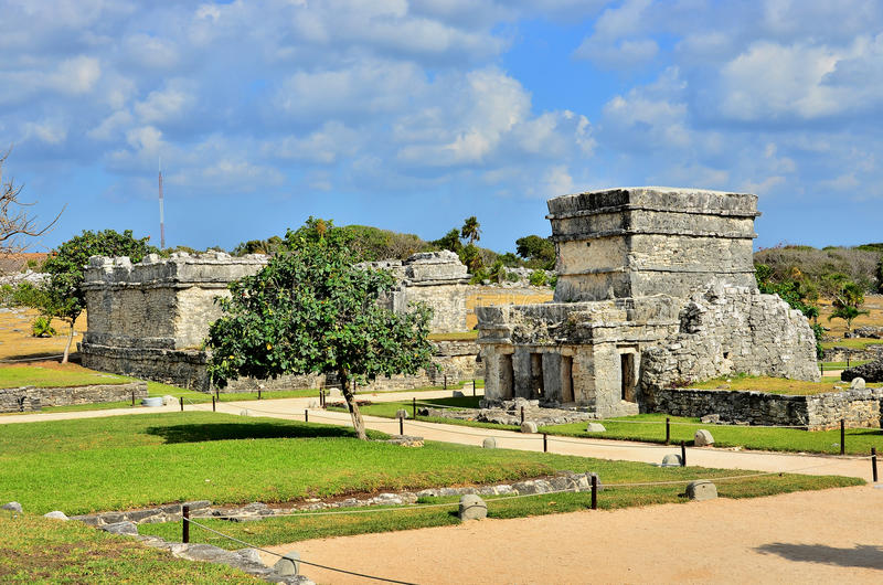 Tulum, Mexico. Mayan ruins in Tulum, Mexico royalty free stock photography