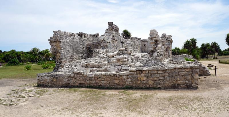 Tulum mexico building in ruins stock photography