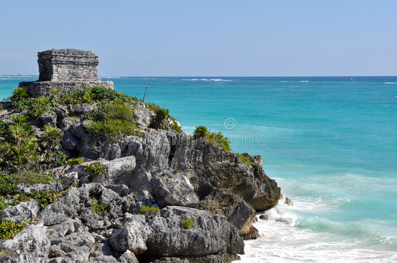 Download Tulum Mexico Mayan Ruin stock image. Image of cliff, building - 18776219