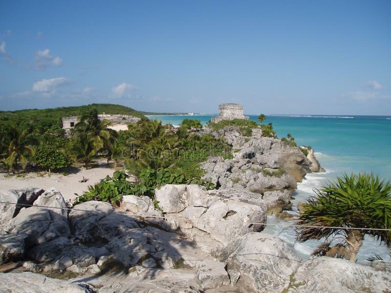 Tulum Paradies-Strand stockfoto