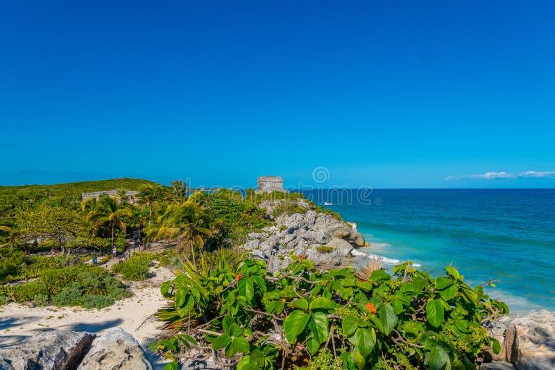 Tulum Riviera Maya, blått hav arkivbild