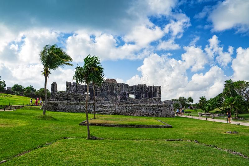 Tulum - ruinas mayas, península del Yucatán, México foto de archivo libre de regalías