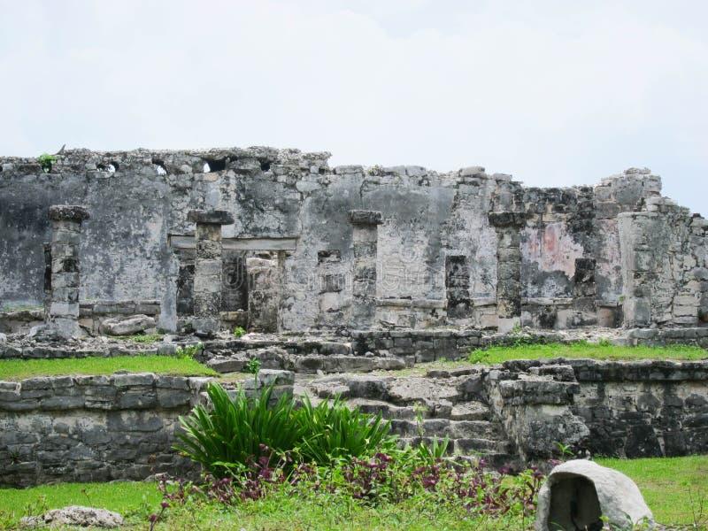 Tulum Ruinen lizenzfreies stockfoto