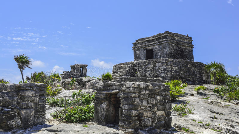 Tulum Ruinen stockfotografie