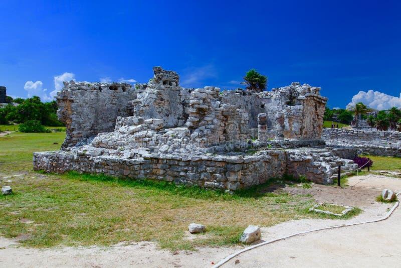 Tulum Ruinen lizenzfreie stockbilder