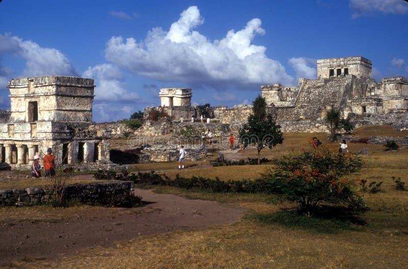 Tulum ruins royalty free stock photo