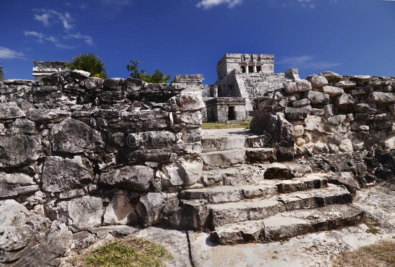 Download Tulum Ruins with temple stock photo. Image of holiday - 13770282