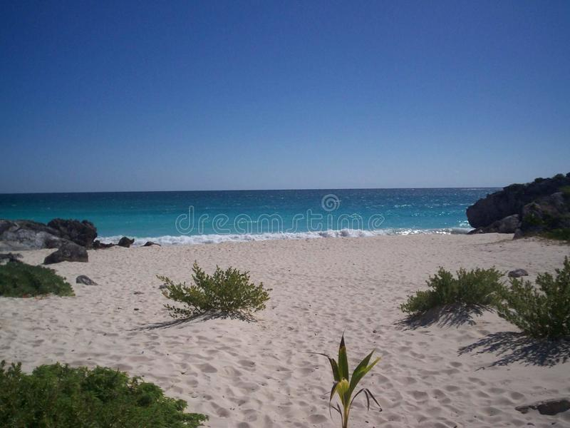 Tulum Strand Mexiko lizenzfreie stockfotografie