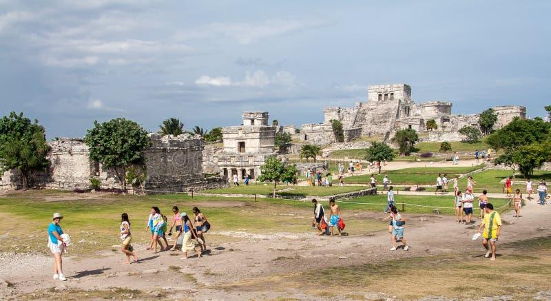 Download Tulum Temple Yucatan Mexico Editorial Stock Photo - Image of rocks, facade: 26251748