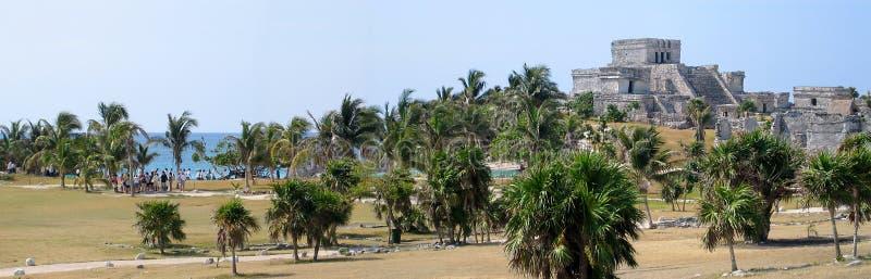 Tulumkasteel in Yucatan in Mexico royalty-vrije stock foto's