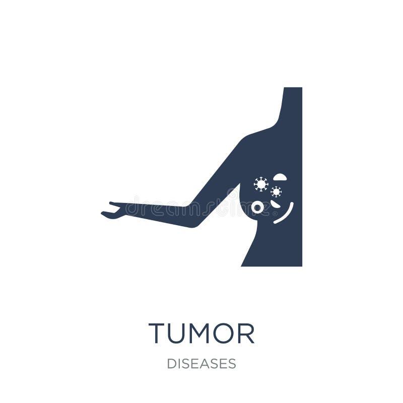 Tumörsymbol Moderiktig plan vektortumörsymbol på vit bakgrund fr vektor illustrationer