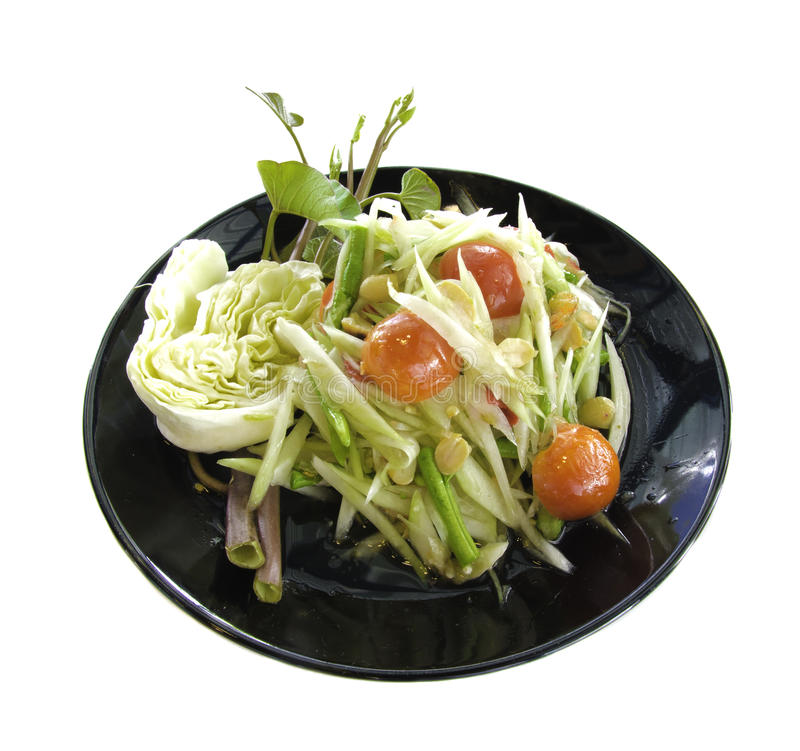 Tum del som, piatto tailandese dell'alimento fotografia stock