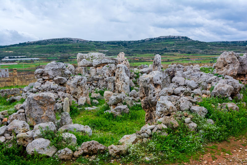 Tum Hagrat, Malta immagine stock
