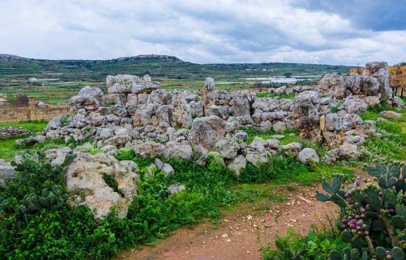 Tum Hagrat, Malta fotografie stock libere da diritti