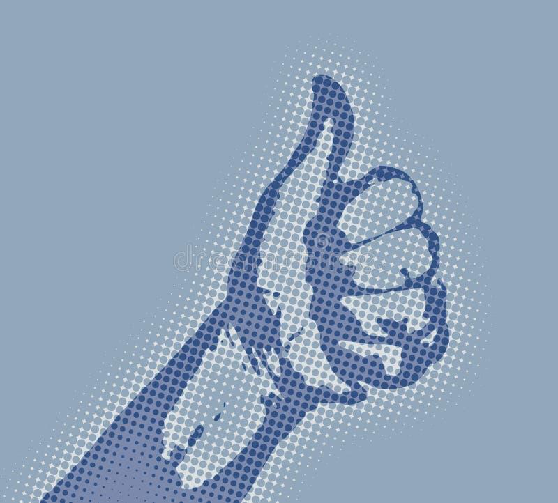 Download Tum upp stock illustrationer. Illustration av diagram, finger - 275090