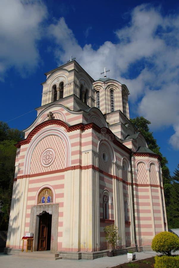 Tumane ortodox kyrka royaltyfri foto