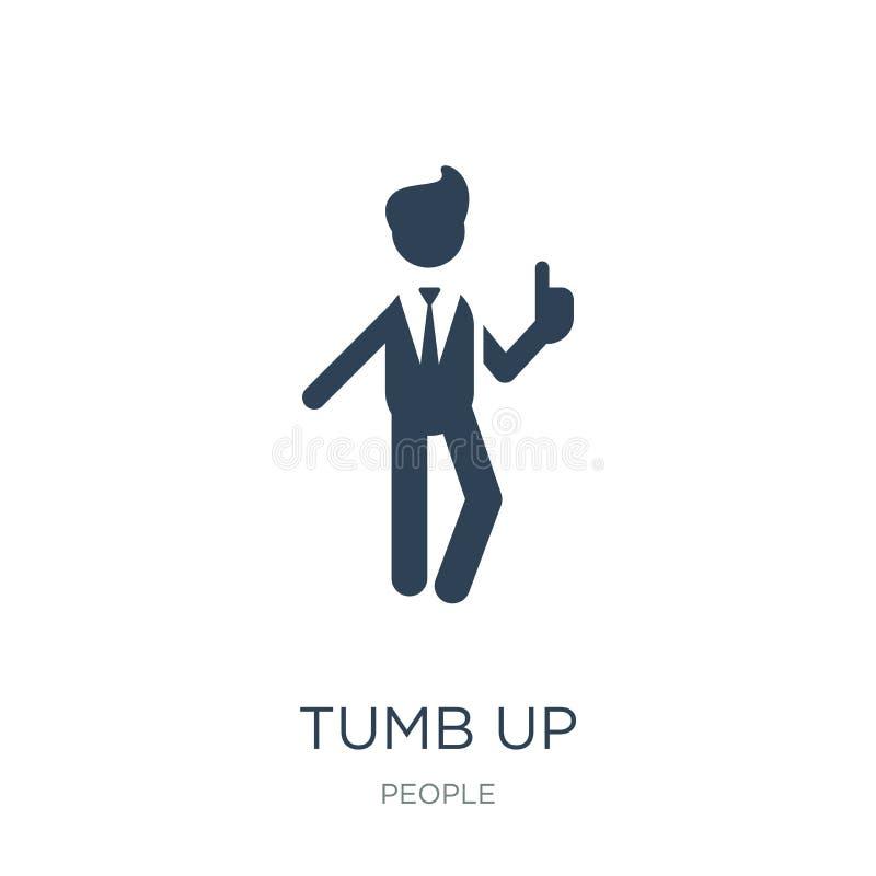 tumb encima del icono del hombre de negocios en estilo de moda del diseño tumb encima del icono del hombre de negocios aislado en stock de ilustración