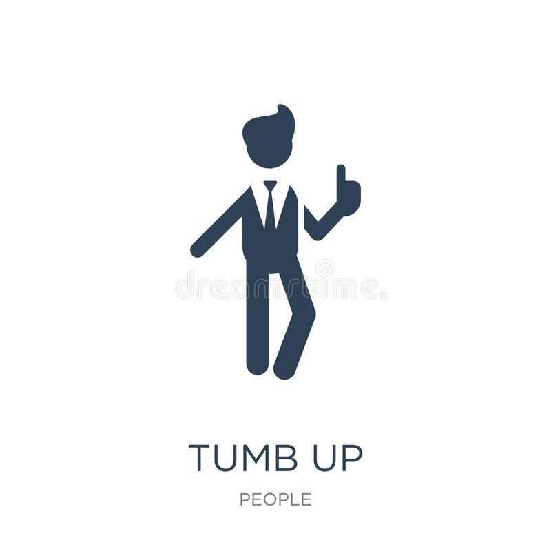 tumb up business man icon in trendy design style. tumb up business man icon isolated on white background. tumb up business man stock illustration