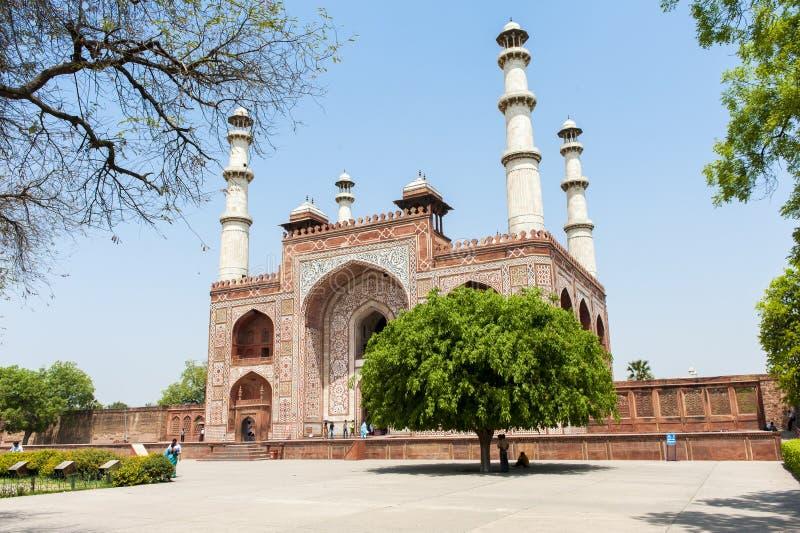 Tumba de Akbar, Agra, la India foto de archivo