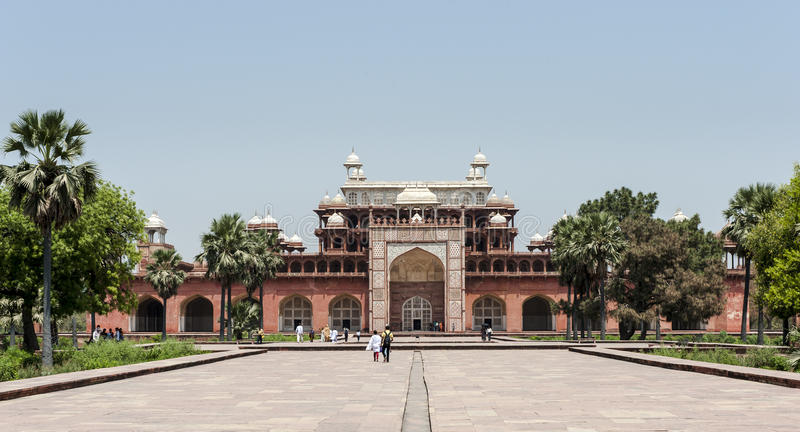Tumba de Akbar, Agra, la India fotografía de archivo libre de regalías