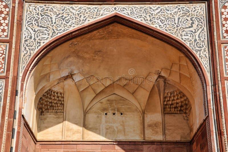 Tumba de Akbar el grande en el fuerte de Sikandra en Agra, Uttar Pradesh, la India fotografía de archivo