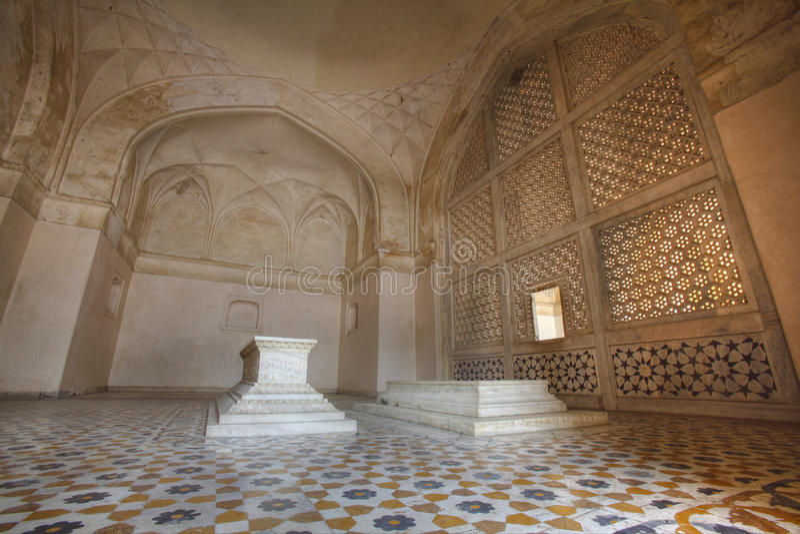 Tumba de Akbar el grande en la fortaleza de Sikandar foto de archivo libre de regalías