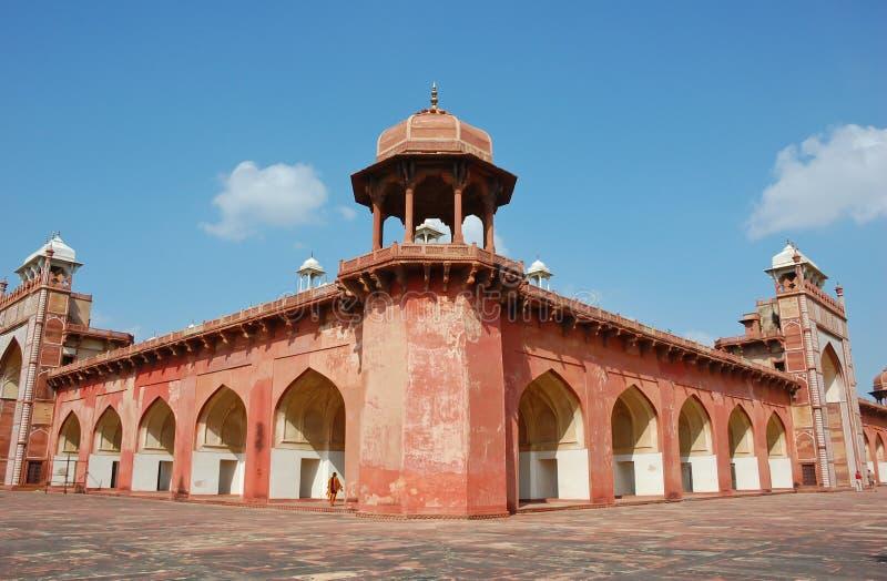 Tumba de Akbar en Agra, la India fotografía de archivo