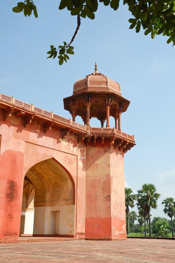 Tumba de Akbar, la India foto de archivo libre de regalías
