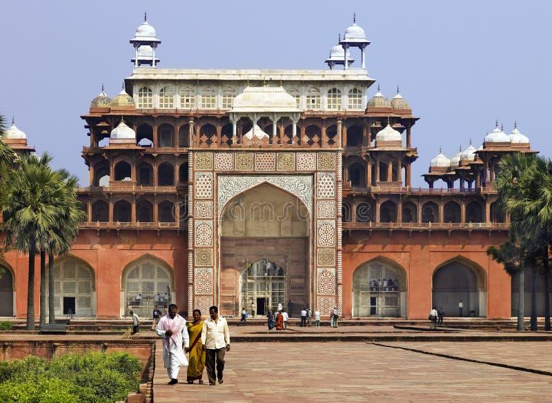 Tumba de Akbar - Sikandra - Agra - la India foto de archivo