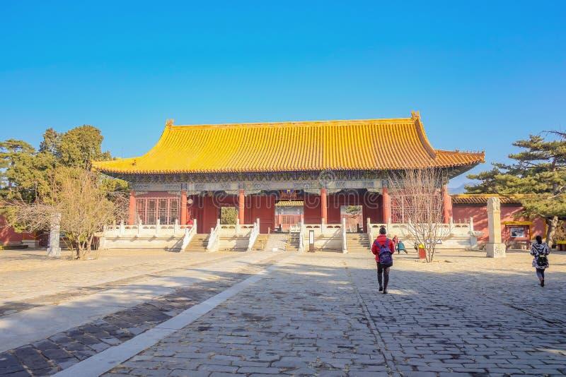 Tumba de Changling de Ming Dynasty Tombs en la ciudad China de Pekín imagen de archivo libre de regalías