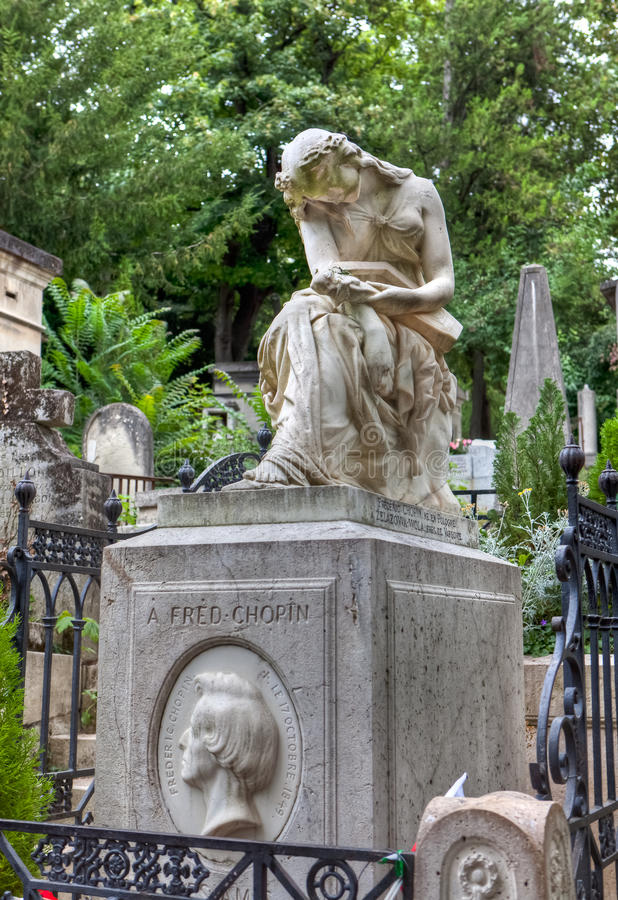 Tumba de Frederic Chopin imagen de archivo libre de regalías