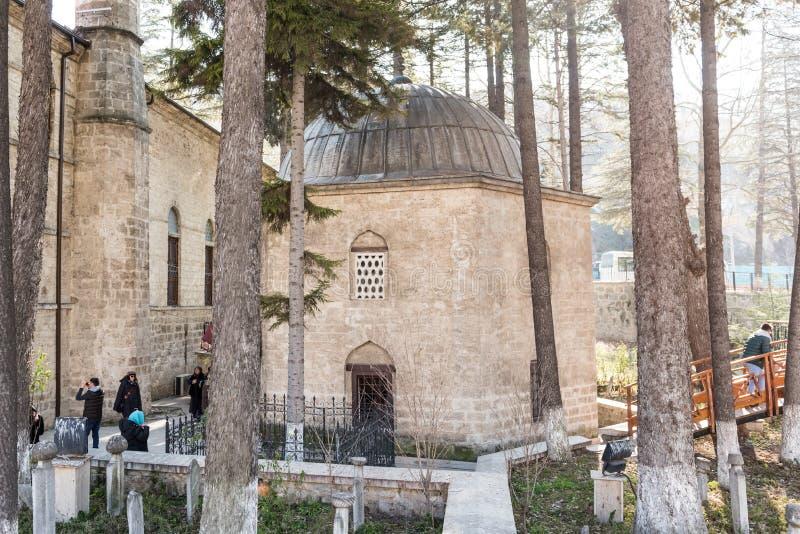 Tumba de Ghazi Suleiman Pasha Mosque y de Akshamsaddin foto de archivo