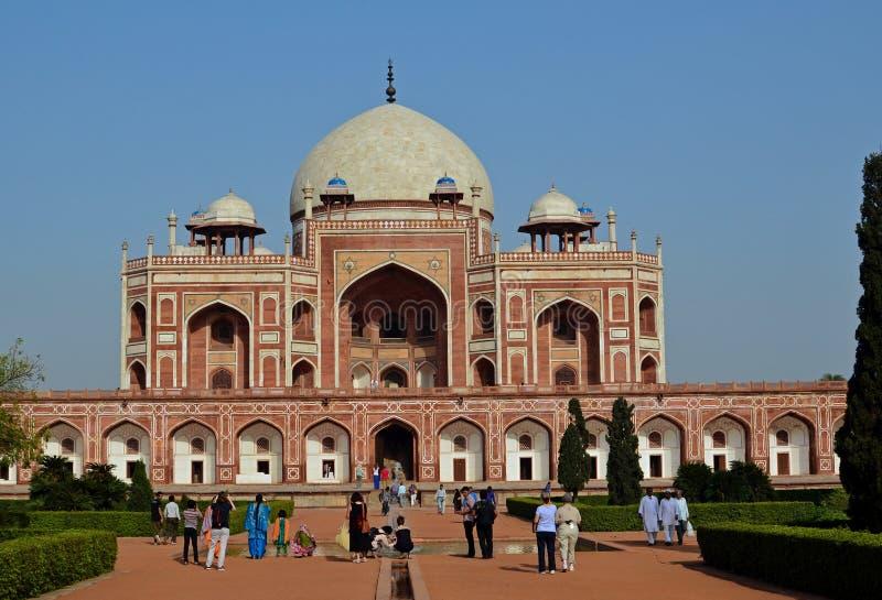 Tumba de Humayun, Nueva Deli, la India fotos de archivo