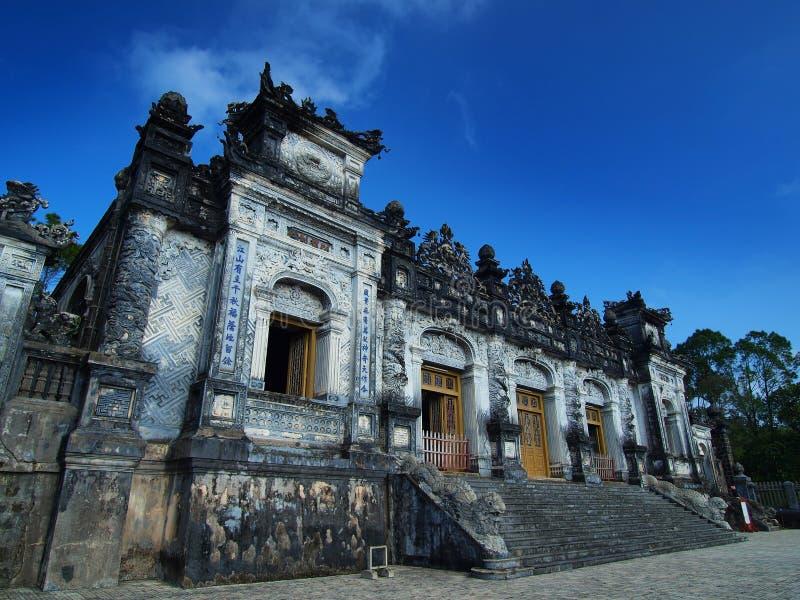 Tumba de Khai Dinh, tonalidad, Vietnam. Sitio del patrimonio mundial de la UNESCO. fotos de archivo libres de regalías