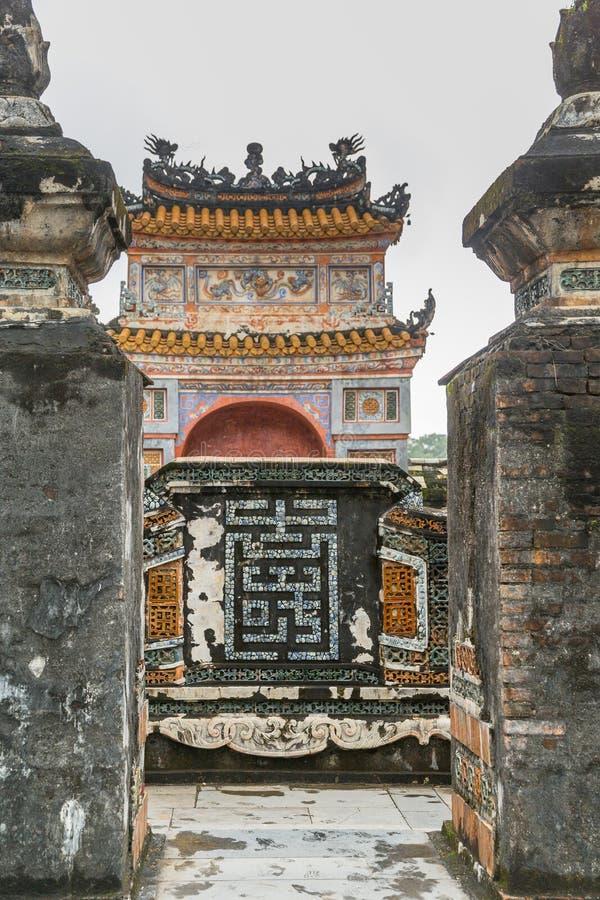 Tumba de Khiem de Tu Duc en Hue Vietnam foto de archivo libre de regalías