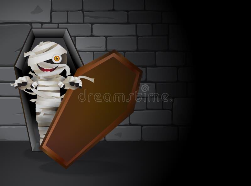 Tumba de la momia foto de archivo libre de regalías