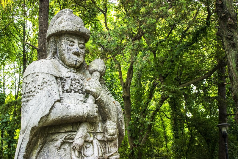 Tumba de Ming Xiaoling en Nanjing China imagenes de archivo