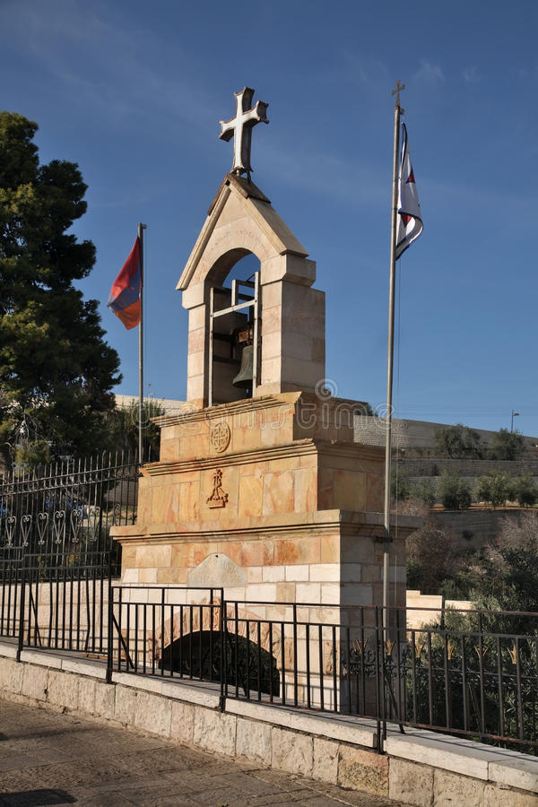 Tumba de Mujir al-Buller i Jerusalem israel royaltyfri foto