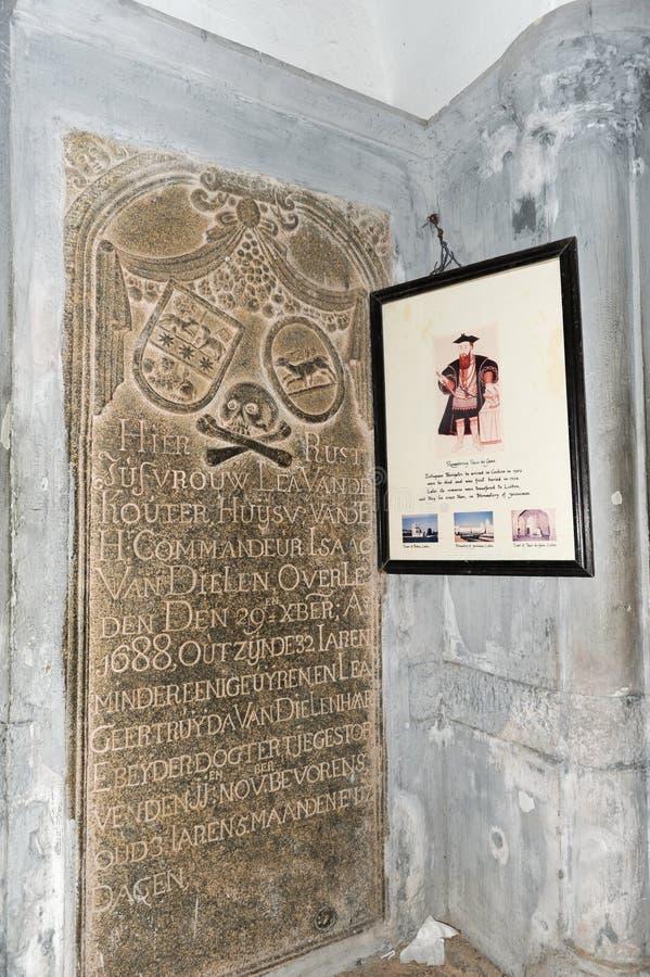 Tumba del descubridor de la ruta de mar a la India Vasco da Gama fotografía de archivo