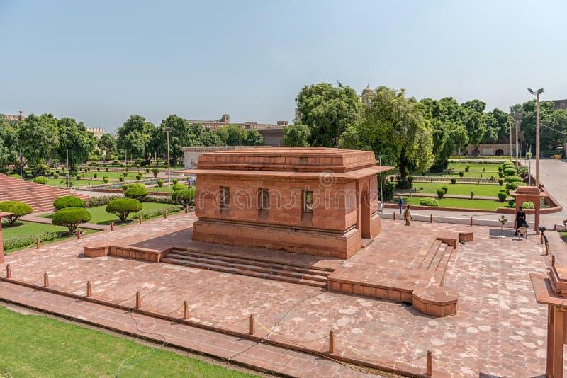 Tumba del Dr. Muhammad Iqbal, Lahore, Punjab, Paquistán foto de archivo libre de regalías