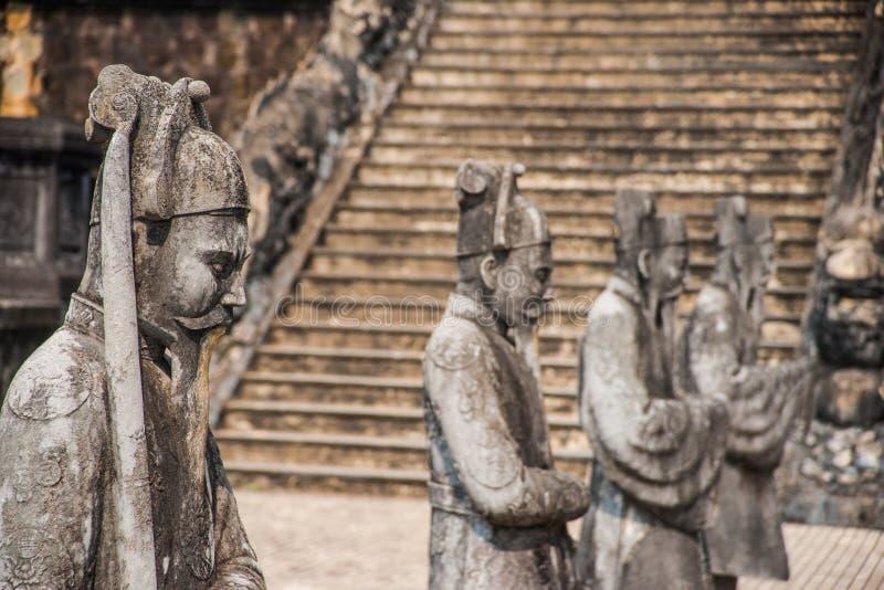 Tumba del emperador en tonalidad, Vietnam de Khai Dinh imagen de archivo libre de regalías
