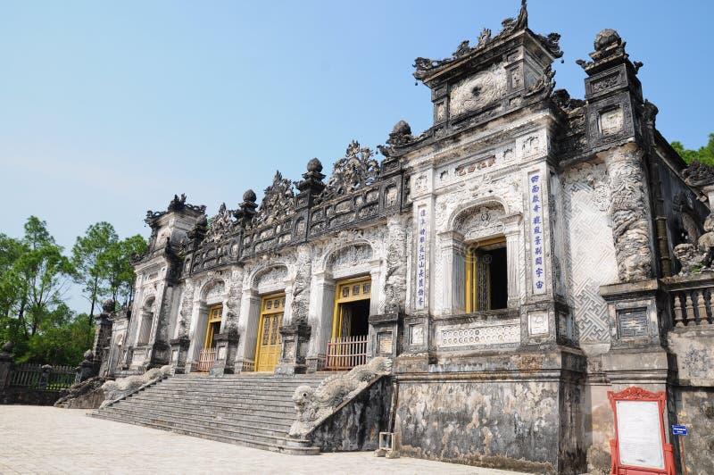 Tumba del emperador Khai Dinh fotografía de archivo