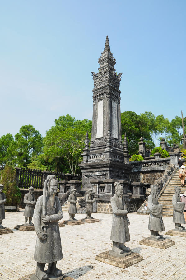 Tumba del emperador Khai Dinh foto de archivo