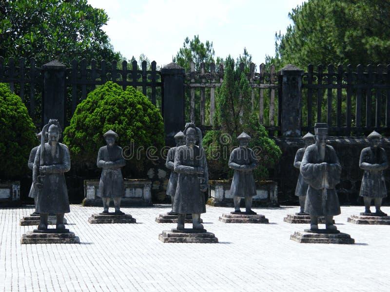 Tumba del emperador Khai Dinh, tonalidad, Vietnam imagen de archivo libre de regalías