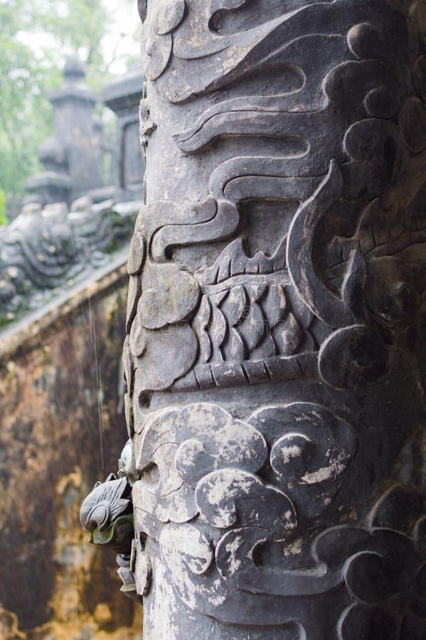 Tumba del emperador Khai Dinh, tonalidad, Vietnam fotografía de archivo libre de regalías