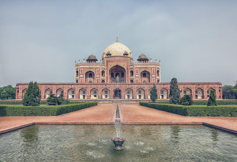 Tumba del ` s de Humayun en Delhi, la India imagen de archivo libre de regalías